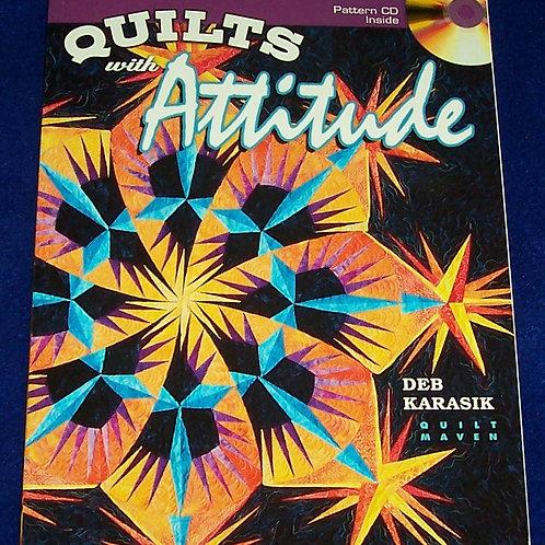 Quilts With Attitude Deb Karasik + CD Quilt Book