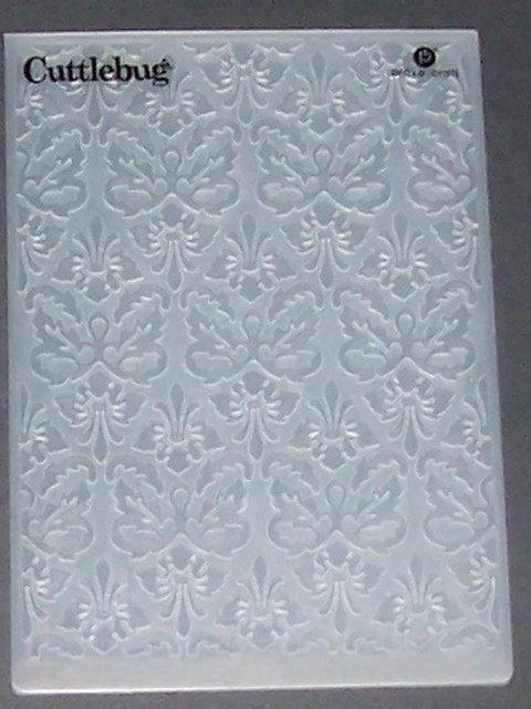 Cuttlebug Embossing Folder Kassie's Brocade Decorative Scrapbooking