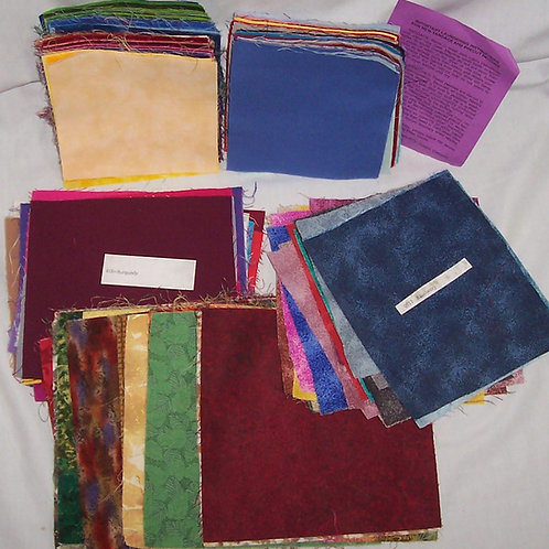 309 Pre-cut Squares Various Colors and Size Solids, Moda...