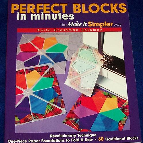 Perfect Blocks in Minutes Anita Grossman Solomon Quilt Book