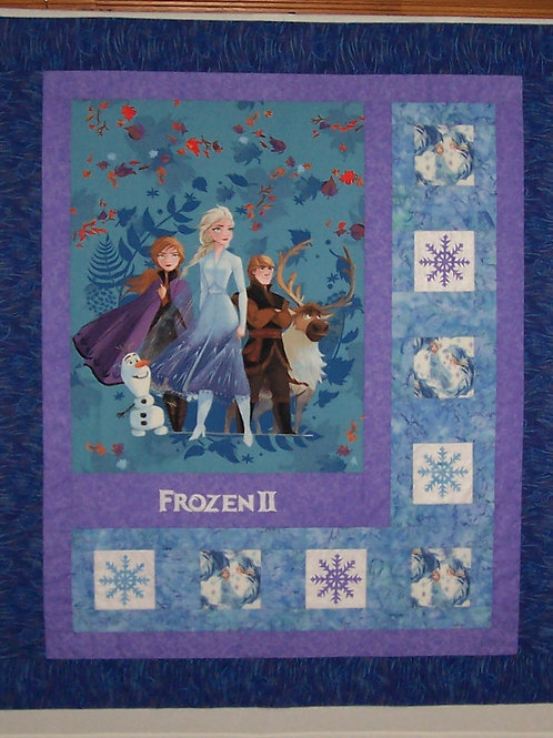 Pre-Order Handmade Frozen 2 Quilt - Needs to Be Quilted