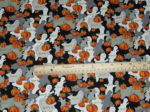 Northcott Harvest Moon Ghosts Pumpkins Boo Halloween Fabric By the Yard