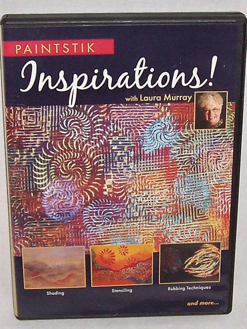 Paintstik Inspirations with Laura Murray DVD Shading Stenciling Rubbing Techniqu