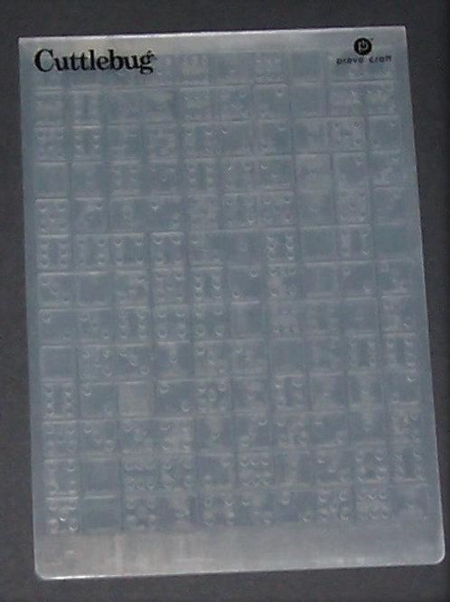 Cuttlebug Embossing Folder Dominoes / Dice Scrapbooking