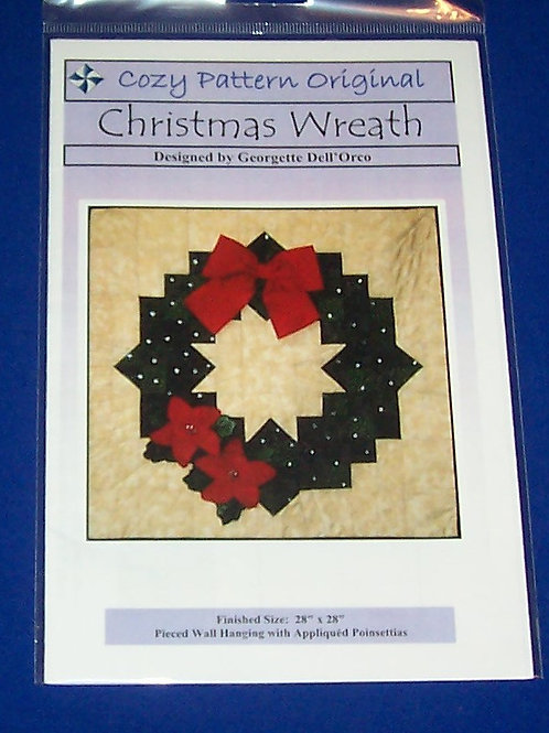 Cozy Pattern Original Christmas Wreath Quilt Pattern Georgette Dell'Orco