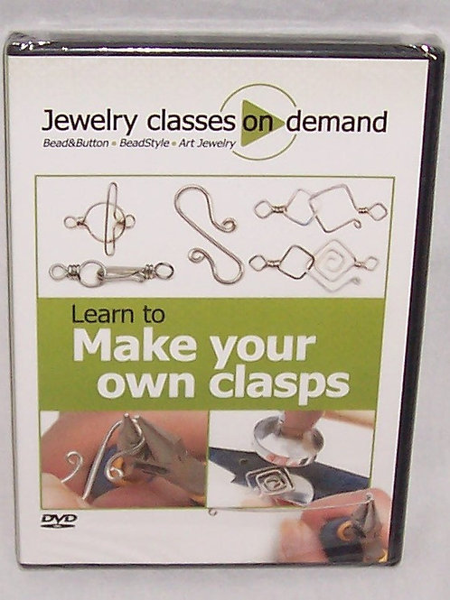 Jewelry Classes On Demand Learn to Make Your Own Clasps DVD Art Jewelry