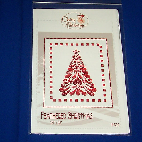 Cherry Blossoms Feathered Christmas Quilt Pattern Tree