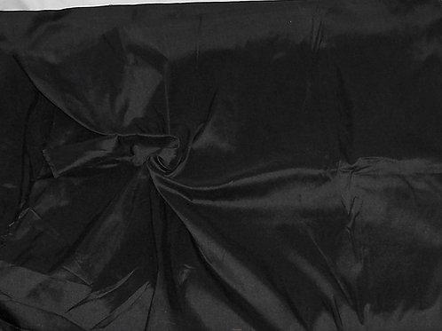 Silk Dupioni By the Piece Black 3-3/4 Yards