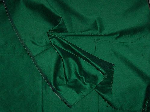 Silk  By the Piece Dark Green 1 Yard