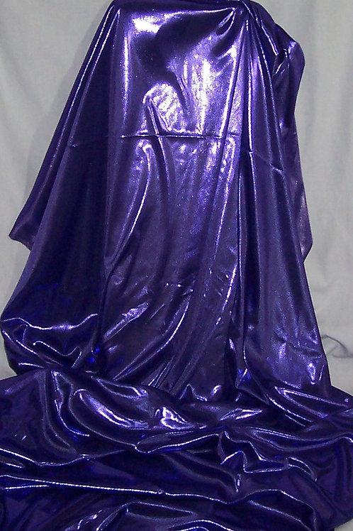 Metallic Foil Shiny Stretch Fabric Lingerie 2 Way Stretch Purple 3 Yards