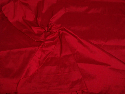 Silk Dupioni By the Piece Red 3 Yards