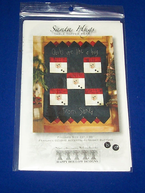 Happy Hollow Desings Santa Hugs Quilt Pattern Christmas