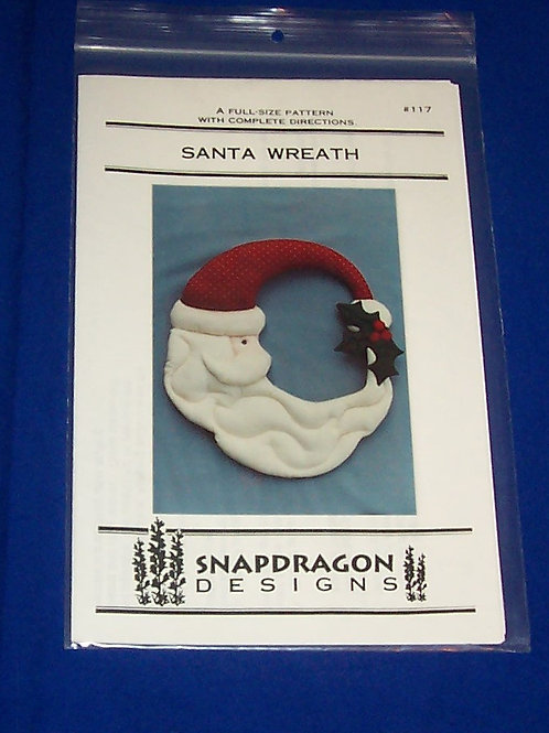 Snapdragon Designs Santa Wreath Pattern #17 Christmas