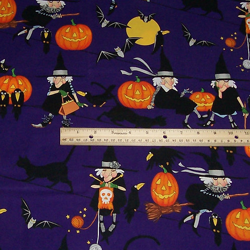 Alexander Henry life's with Halloween Fabric 1-1/2 Yards