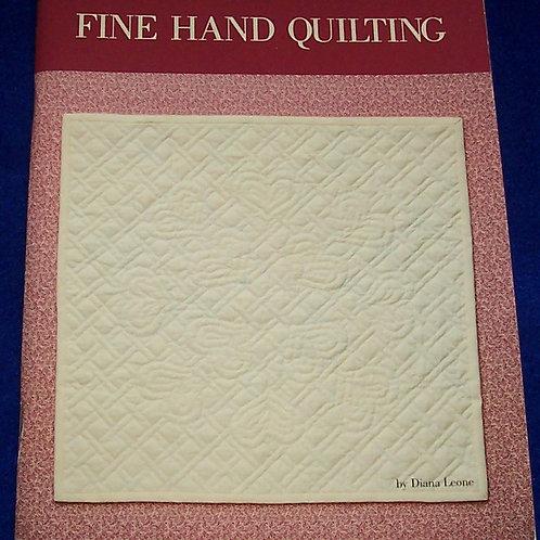 Fine Hand Quilting Diana Leone Quilt Book