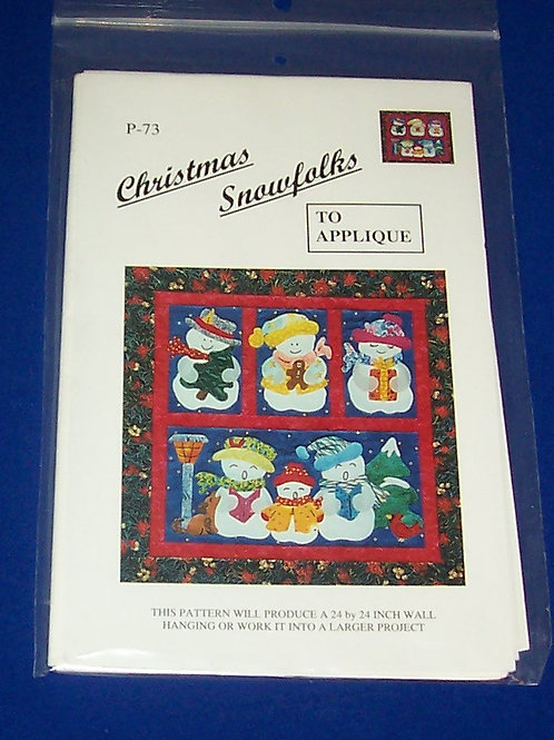 Christmas Snowfolks Quilt Pattern Snowman Christmas Donna Poster