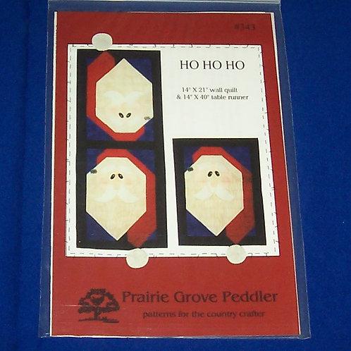 Prairie Grove Peddler Ho Ho Ho Santa Quilt Pattern Christmas