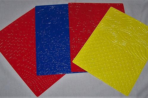 Roylco Texture Rubbing Plates 4 Plates 8 Designs