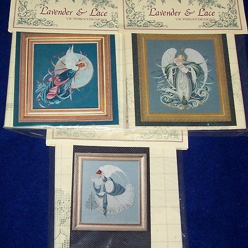3 Cross Stitch Pattern Lavender & Lace Victorian Designs Marilyn Leavitt-Imblum