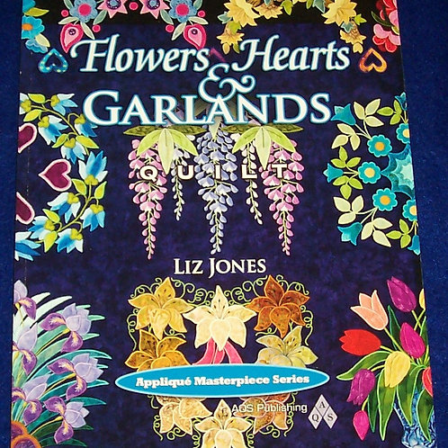 Flowers Hearts &  Garlands Liz Jones Applique Quilt Book