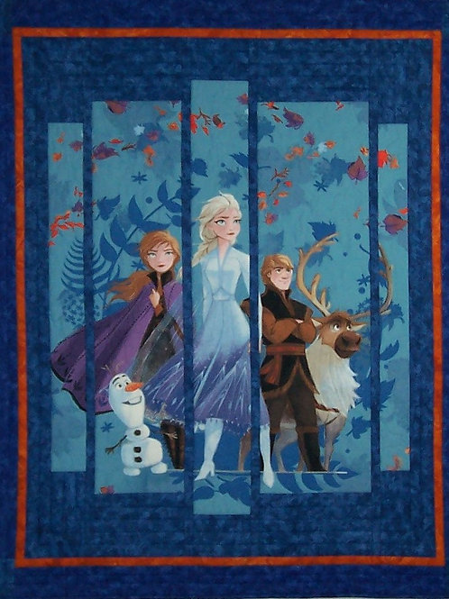 Frozen 2 Wall Hanging Quilt Pattern Using a Fabric Panel Baby Quilt PDF Download