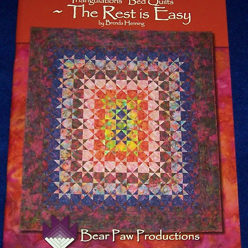 Triangulations Bed Quilts The Rest is Easy Brenda Henning Quilt Book