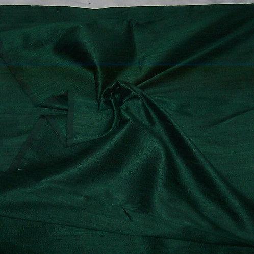 Silk Dupioni By the Piece Dark Green 3-3/4 Yards