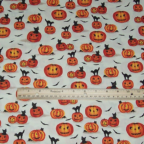 Marcus Brothers Edelen Wille Jack O Lanterns Black Cats Halloween Fabric