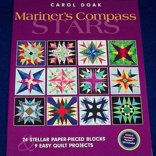 Mariner's Compass Stars Carol Doak + CD Quilt Book