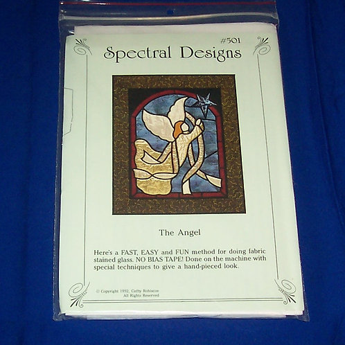 Spectral Designs The Angel Stained Glass Quilt Pattern Christmas w/ Fabric
