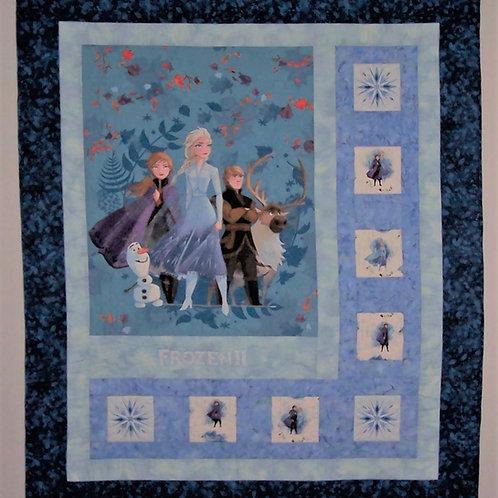 Handmade Frozen 2 Quilt - Machine Pieced & Quilted