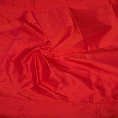 Silk Dupioni By the Piece Orange 2 Yards