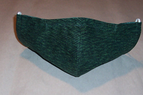 Olson Style Reusable Cloth Face Mask 3 layers  w/ Filter Pocket Nose Wire Channe