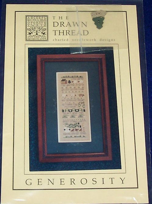 Cross Stitch Pattern Kit The Drawn Thread Generosity