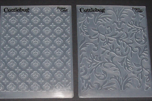 2 Cuttlebug Embossing Folders Fancy Vines / Flowers & Crosses Scrapboo
