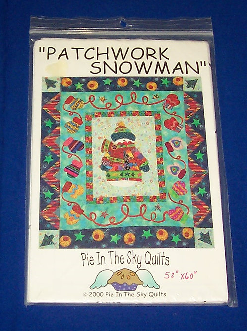 Pie In The Sky Patchwork Snowman Quilt Pattern Christmas