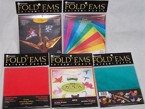 5 Pkg Yasutomo Fold Ems Origami Paper Metallic Hologram Foil 219 Sheets Total