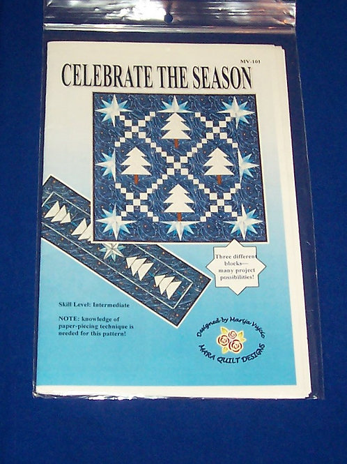 Celebrate The Season Quilt Pattern Christmas Trees Stars Paper Pieced