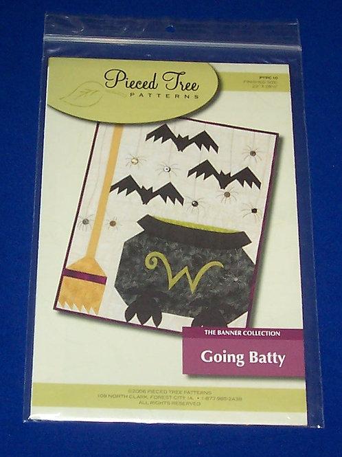 Pieced Tree Patterns Going Batty Quilt Pattern Halloween Bats