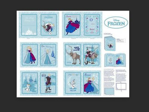 "Disney Frozen Cotton Fabric Book Panel Winter Magic 36""X 44"""