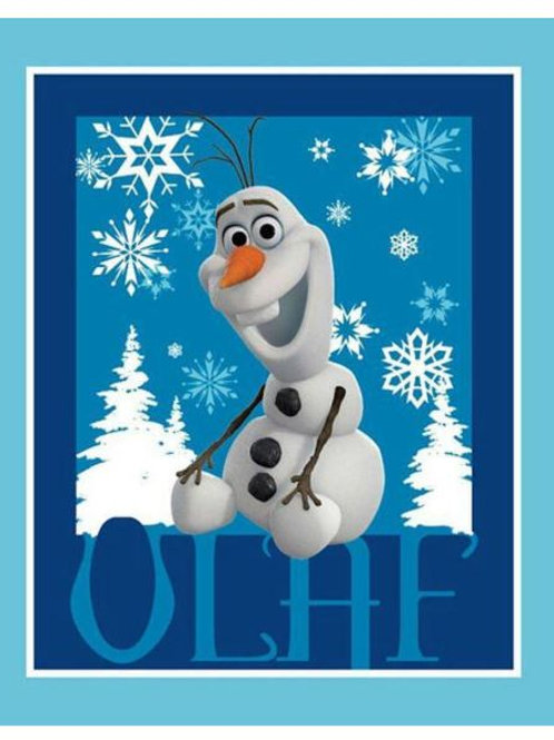"Disney Frozen Olaf Cotton Fabric Panel  36""X 44"""