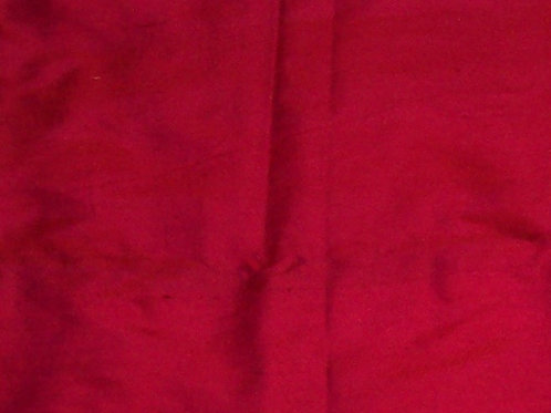 Silk Dupioni By the Piece Red 1-1/8 Yards