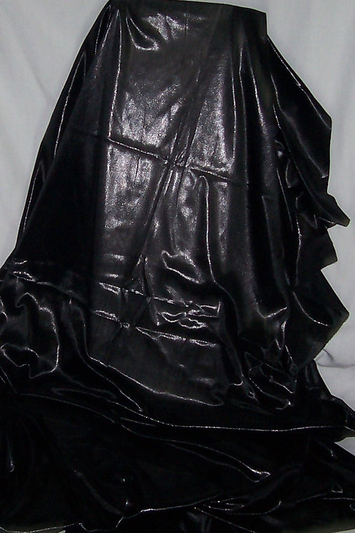 Foil Shiny Stretch Fabric Lingerie 2 Way Stretch Black 3 Yards