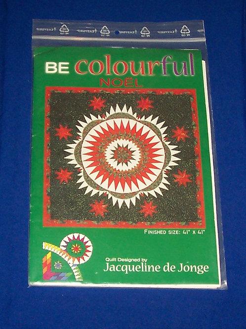 Be Colourful Noel Jacqueline de Jonge Quilt Pattern Christmas