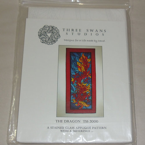 The Dragon Three Swans Studios Quilt Pattern TSS 2000 Stained Glass Applique