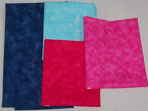 Moda Marbles 3 Fat Quarters and 1/2 Yd Blue (Remnants)