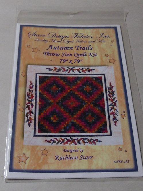 """Autumn Trails Kathleen Starr Quilt Pattern Throw Size Quilt 79"""" X 79"""""""