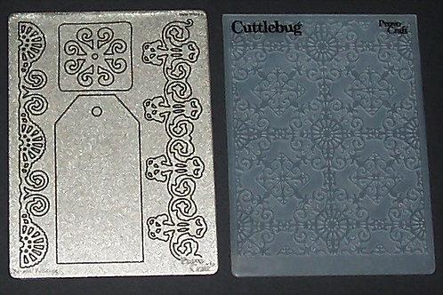 Cuttlebug Metal Die Cut & Embossing Folder Ornamental Iron Gift Tag