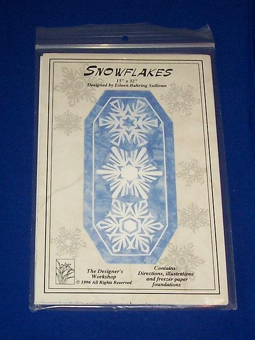 Snowflakes Quilt Pattern Christmas Eileen Bahring Sullivan