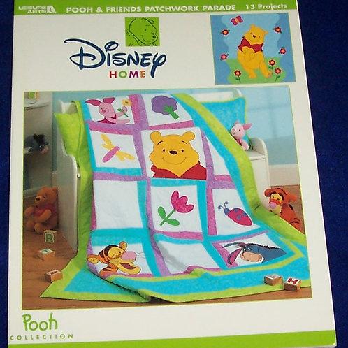 Disney Home Pooh & Friends Patchwork Parade Leisure Arts Quilt Book